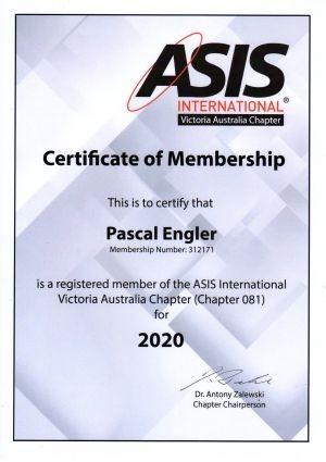 ASIS Vic Certificate058